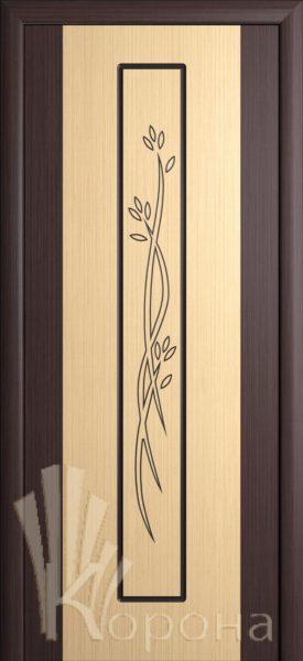 Дверь Комби ДГ бел.дуб-венге