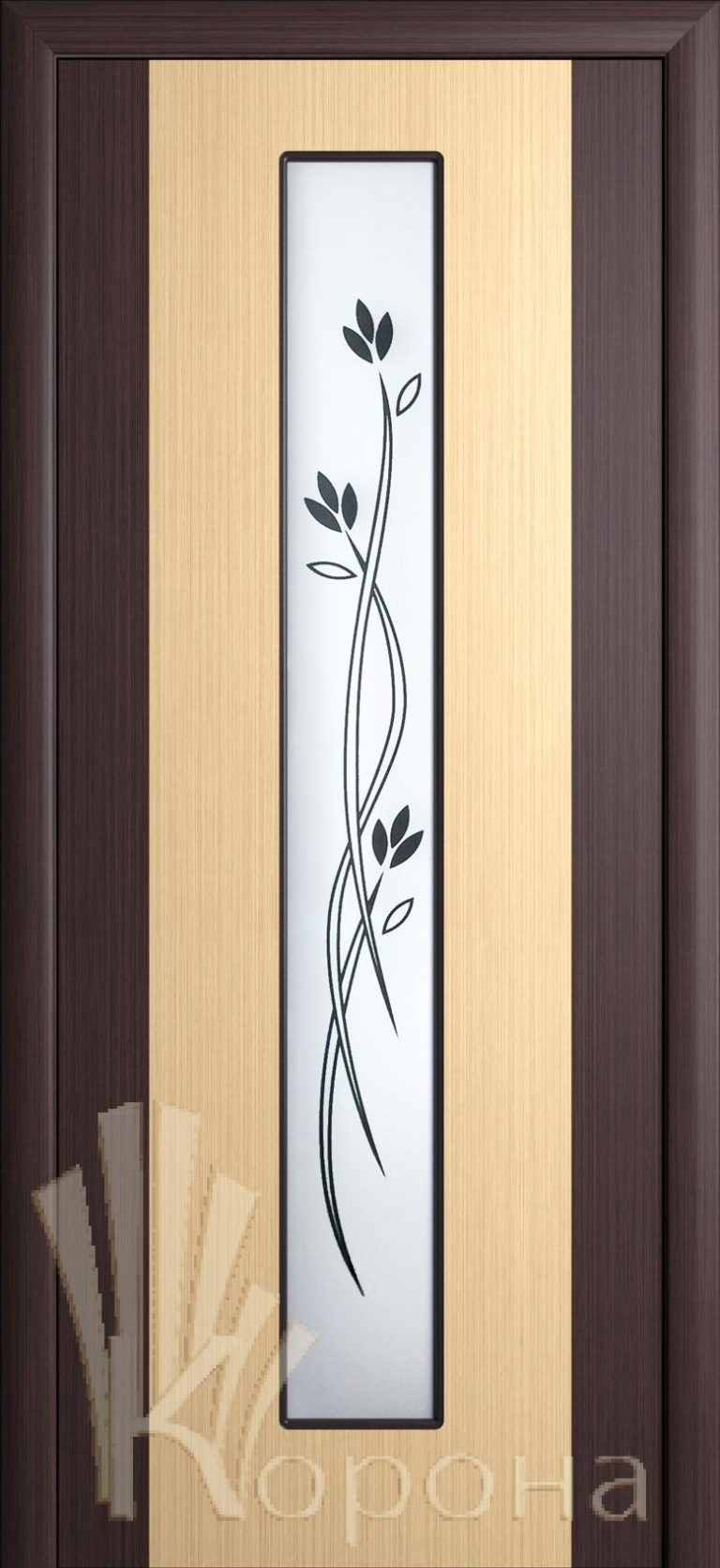 Дверь Комби ДО бел.дуб-венге