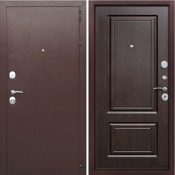Входная дверь 10 см Толстяк РФ медный антик Венге