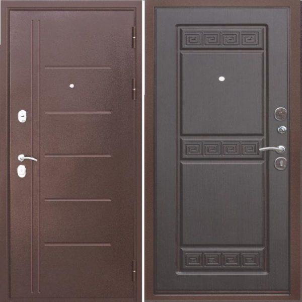 Входная дверь 10 см Троя медный антик Венге